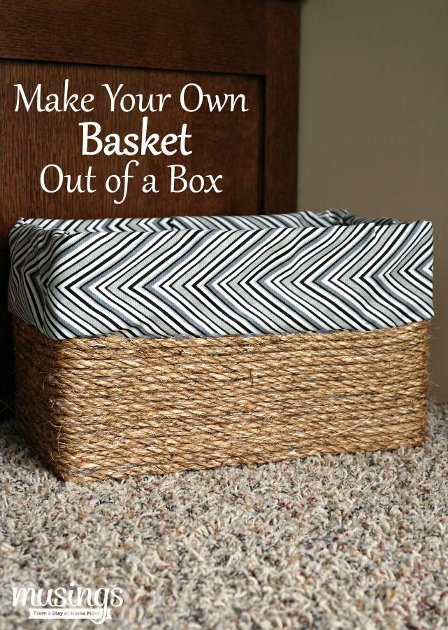 Košík na drobnosti z krabice od topánok